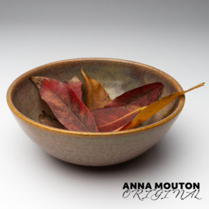 Ceramic bowl of autumn leaves. Photo by Anna Mouton.
