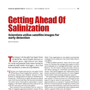 201909 Fresh Quarterly article. Getting ahead of salinization: scientists utilise satellite images for early detection by Anna Mouton.